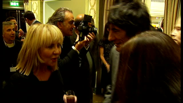 south bank show awards: photocalls and interviews; kevin whateley ronnie wood and lulu sir cameron mackintosh interview sot - surprised to have won... - lulu singer stock videos & royalty-free footage