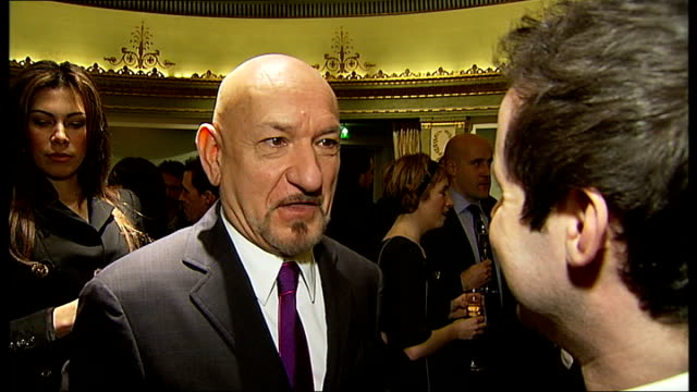 photocalls and interviews sir ben kingsley interview sot his contribution to theatre is extraordinary / wonderful collaboration with trevor nunn he... - ben kingsley stock videos & royalty-free footage