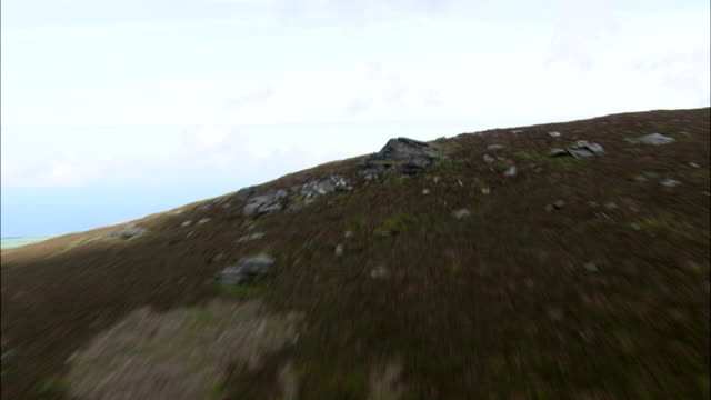 south barrule and old fort - isle of man stock videos & royalty-free footage