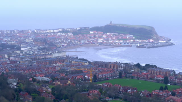 South Bay  Castle & Houses Scarborough, North Yorkshire, England