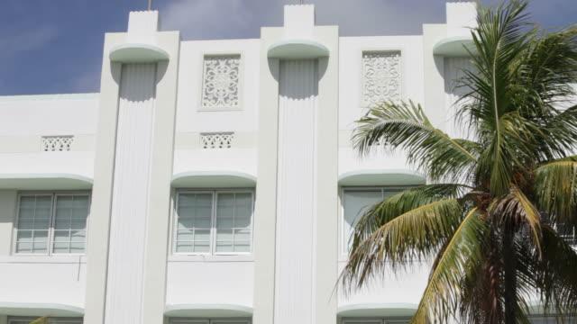 south beach art deco - miami stock videos & royalty-free footage