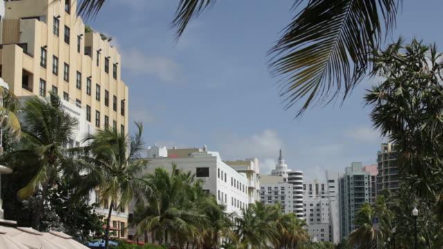 サウスビーチアールデコ - アールデコ地区点の映像素材/bロール