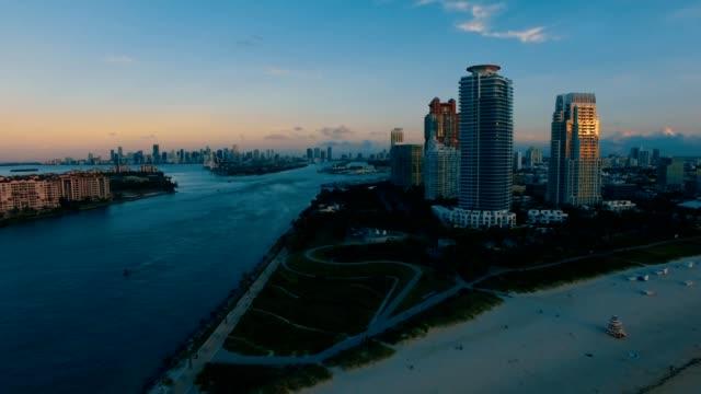 South Beach during sunrise
