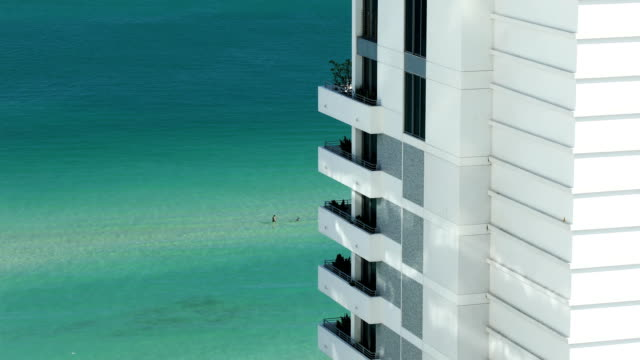 south beach living - balcony stock videos & royalty-free footage