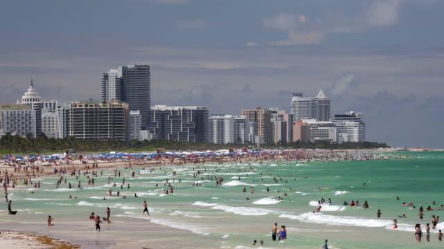 south beach, miami beach, gold coast, miami, florida, usa - miami beach stock videos & royalty-free footage