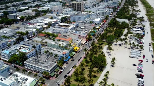 south beach miami ocean street - south beach stock videos & royalty-free footage