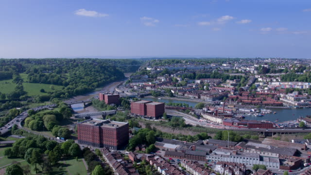 south bristol aerial viewed river avon - bristol england stock videos & royalty-free footage
