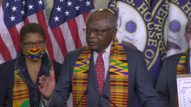 south carolina congressman jim clyburn says at a press conference to introduce justice in policing act that with few exceptions, white people came to... - social justice concept bildbanksvideor och videomaterial från bakom kulisserna
