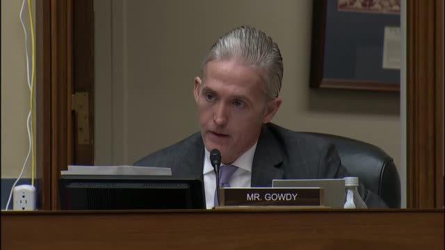 south carolina congressman trey gowdy says at a hearing of the house oversight and government reform committee inquiring in to messaging of the obama... - organised group stock videos & royalty-free footage