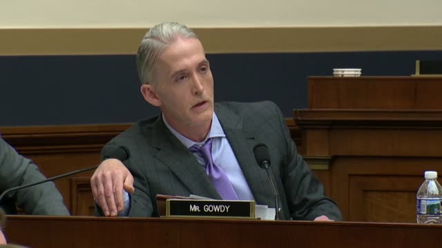 south carolina congressman trey gowdy tells fbi director christopher wray at an oversight hearing of the house judiciary committee after two years... - christopher a. wray stock videos & royalty-free footage
