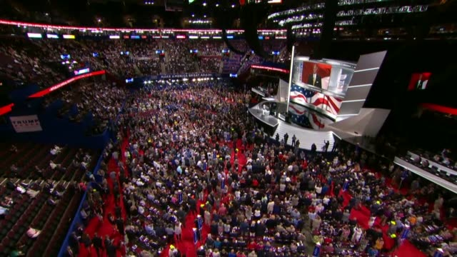 south carolina lieutenant governor henry mcmaster tells delegates at the convention that supporting donald trump the republican candidate for... - 選挙点の映像素材/bロール