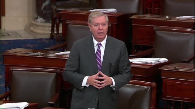 south carolina senator lindsey graham says after president donald trump declared victory over terrorist group isis in a twitter video message and... - syria stock videos & royalty-free footage