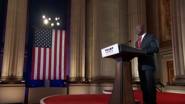 south carolina senator tim scott asks the american people in a keynote speech to the 2020 republican national convention first night not to simply... - orthographic symbol stock videos & royalty-free footage