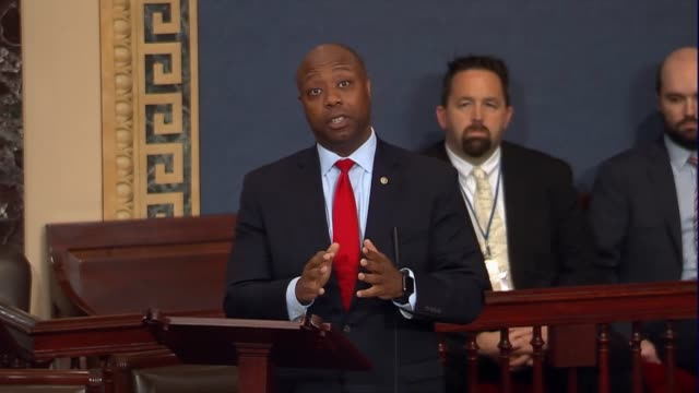 South Carolina Senator Tim Scott calls it a good day as Senate Finance Committee Republicans introduced a comprehensive tax reform bill he not sure...