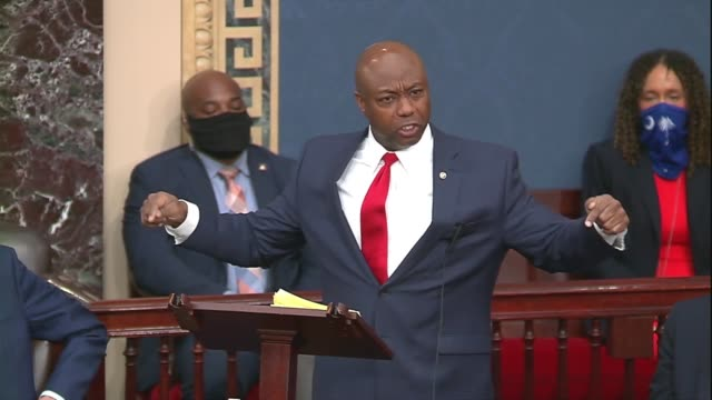 south carolina senator tim scott says after a failed vote on the motion to invoke cloture on a motion to proceed to his justice act policing reform... - senator stock videos & royalty-free footage