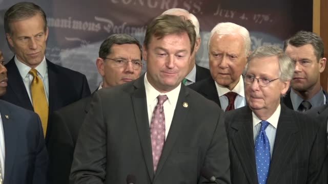 south carolina senator tim scott says at a press briefing after passage of the tax cuts and jobs act that there was no doubt, the process was about... - no doubt band stock videos & royalty-free footage