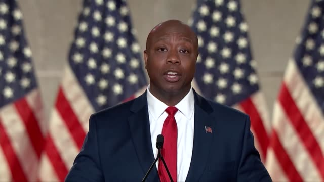 south carolina senator tim scott says in a keynote speech to the 2020 republican national convention first night that his grandfather's 99th birthday... - {{ collectponotification.cta }} stock videos & royalty-free footage