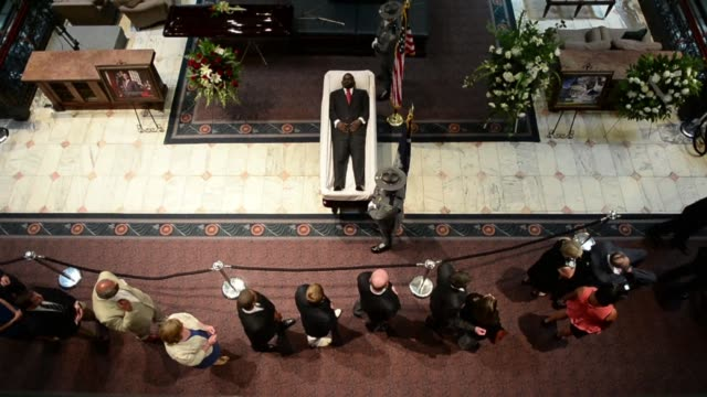 south carolinans paid their respects to emanuel ame church pastor and south carolina state senator clementa pinckney in charleston on wednesday as he... - pastor stock videos & royalty-free footage