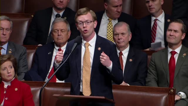 south dakota congressman dusty johnson opposes impeaching president donald trump because impeachment was not in the best interest of the country but... - partisan politics stock videos & royalty-free footage