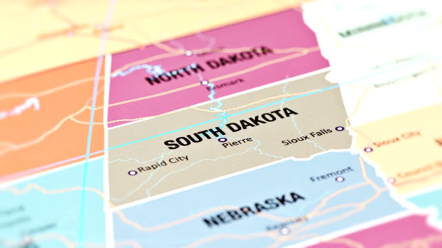 south dakota from usa states - badlands national park video stock e b–roll