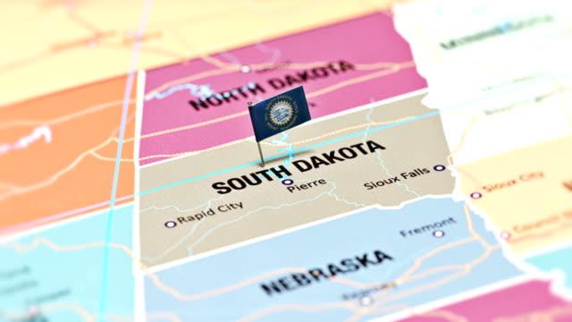 vídeos de stock e filmes b-roll de south dakota from usa states - dakota do sul
