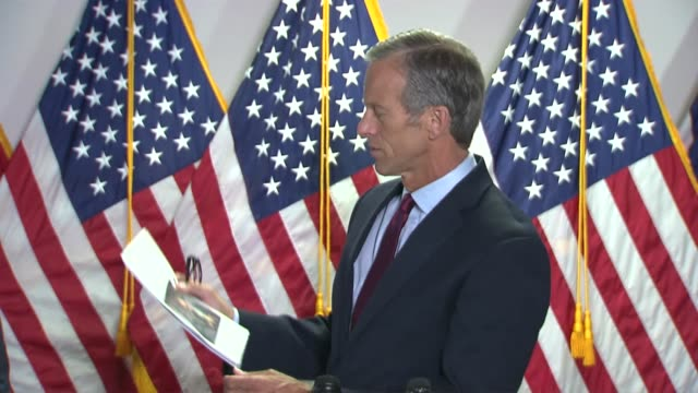 south dakota senator john thune tells reporters at a weekly press conference a week after the justice act policing reform bill was stole that the... - south dakota stock videos & royalty-free footage