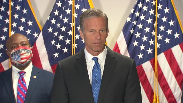 south dakota senator john thune tells reporters at a weekly press conference that republicans want to make law on the issue of policing reform and... - south dakota stock videos & royalty-free footage