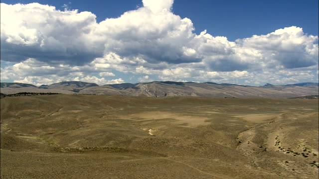 South Edge Of Shoshone National Forest  - Aerial View - Wyoming,  Fremont County,  helicopter filming,  aerial video,  cineflex,  establishing shot,  United States