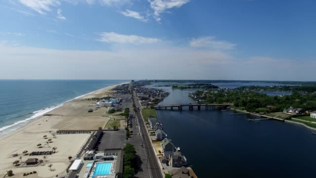 stockvideo's en b-roll-footage met south jersey shore beaches in seaside heights new jersey - new jersey
