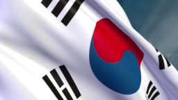 South Korea - Flag - 4K - Loop