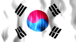 South Korea Flag Animation