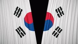 South korea flag curtain cloth