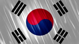 South Korea Flag Loopable Animation