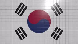 South Korea flag Showing Up Intro By Regions 4k animated Russia map intro background with countries appearing and fading one by one and camera movement