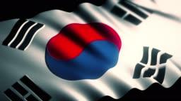 4K South Korea Flag