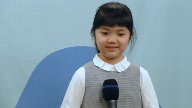 south korea jan 30: nine-year-old sumire nakamura and south korean professional go player cho hun hyun meet the press after their game in seongnam,... - genius stock videos & royalty-free footage