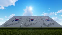 South Korea Maps Background In The Open Air