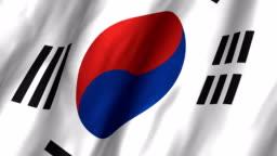 South Korea Waving Flag 4K