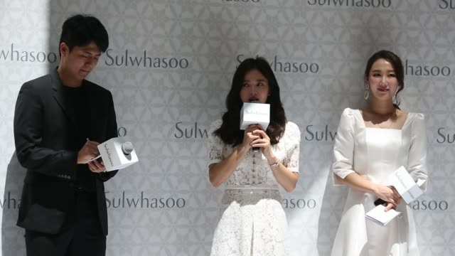 south korean actress song hye gyo attends commercial event on july 6 2019 in sanya hainan province of china - south korea stock videos & royalty-free footage