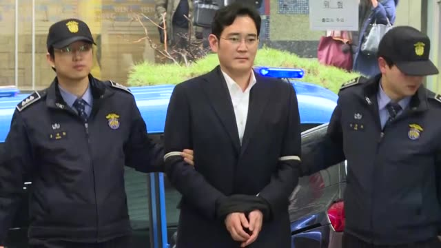 a south korean appeals court upholds samsung heir lee jaeyong's bribery conviction but cut his prison sentence to a suspended term ordering his... - heir stock videos and b-roll footage