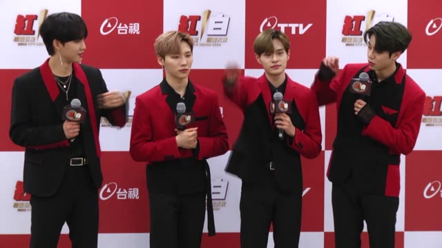 south korean boy band ab6ix attends a press conference on january 12, 2020 in taipei, taiwan of china. - boy band stock videos & royalty-free footage