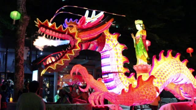 south korean buddhists hold annual lantern parade during the lotus lantern festival to celebrate the upcoming birthday of buddha which falls on may... - buddha's birthday stock videos and b-roll footage