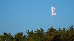 South Korean flag is waving