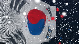 South Korean Flag Particle Animation