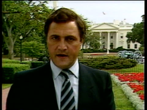 us reaction usa washington whatever sanctions against them sign off video eng via sat/lib lib/dod lib/abc tx - 1983 stock videos & royalty-free footage