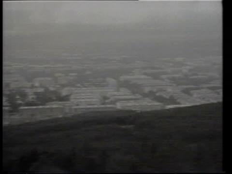 south korean jumbo jet 747 disappearance russia sakhalin vls buildings on sakhalin island pan rl vls buildings on the island - 1983 bildbanksvideor och videomaterial från bakom kulisserna