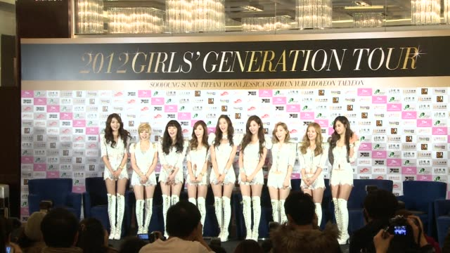 South Korean KPOP group Girls' Generation held their first concert in Hong Kong on Sunday Hong Kong China