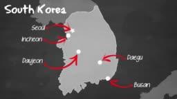 South Korean map