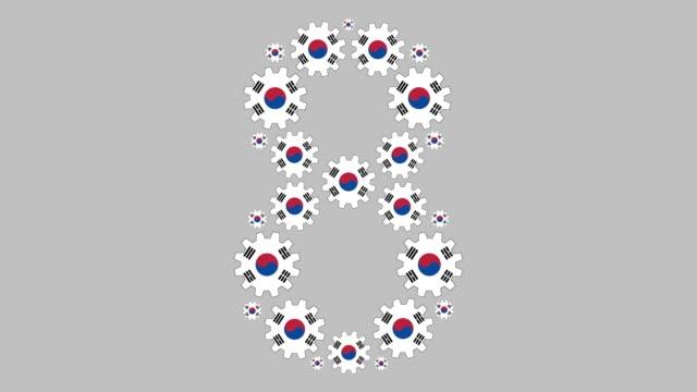 vidéos et rushes de sud-coréen numéro huit - chiffre 8