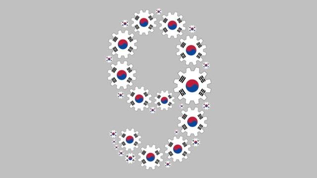 stockvideo's en b-roll-footage met zuid-koreaanse nummer negen - getal 9
